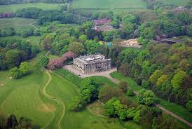 Ariel view of Haigh hall